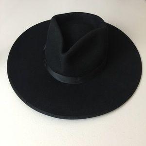 Lack of Color Black Wool Fedora